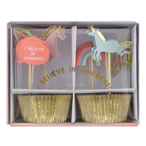 I Believe In Unicorns Cupcake Kit, ${color}