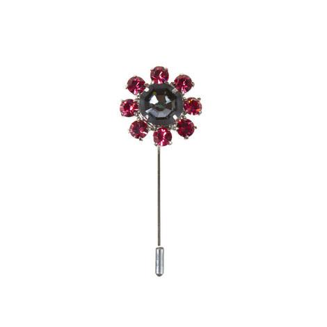 Floral Lapel Pin, ${color}