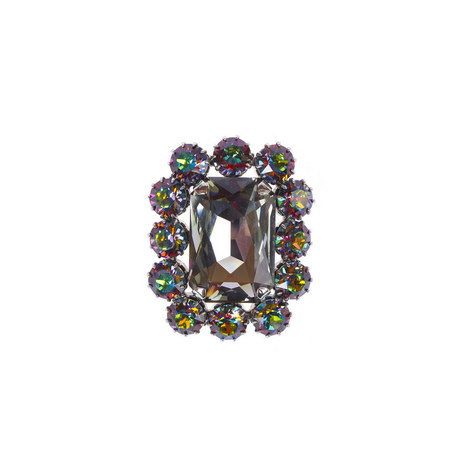Rectangular Crystal Lapel Pin, ${color}