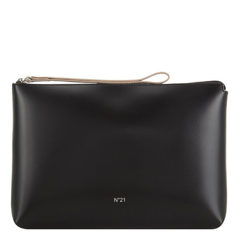 Leather Zip Top Pouch, ${color}
