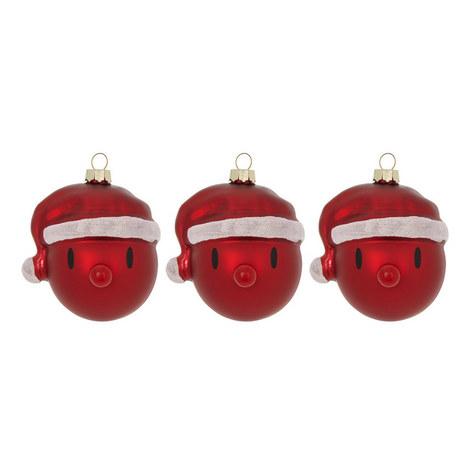 3-Piece Mini Santa Bauble Set, ${color}