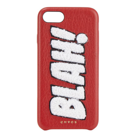 """BLAH!"" Chenille iPhone 7 Case, ${color}"
