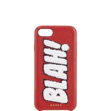 """BLAH!"" Chenille iPhone 7 Case"