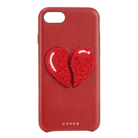 Broken Heart Leather iPhone 7 Case, ${color}