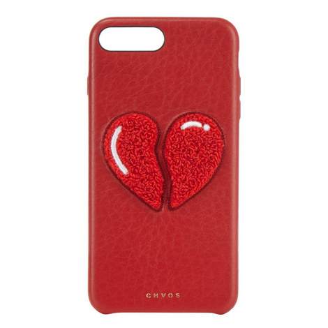 Broken Heart Leather iPhone 7+ Case , ${color}