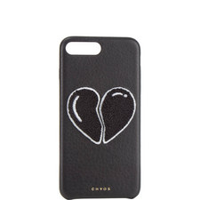 Broken Heart Leather iPhone 7+ Case