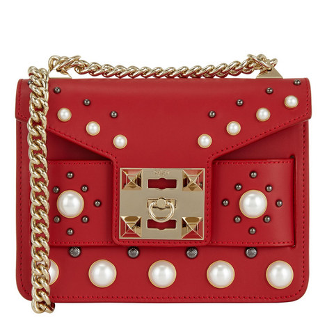 Mila Pearl Detail Bag, ${color}