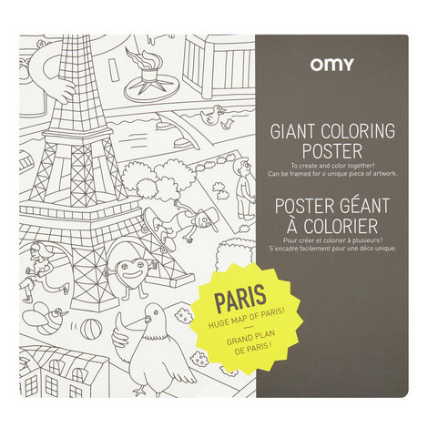 Giant Colouring Poster Paris, ${color}