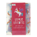 Unique Unicorns On-The-Go Stationery Kit , ${color}