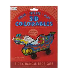 3D Colourables Radical Race Cars