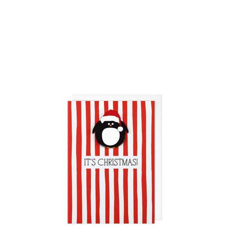 It's Christmas Penguin Card, ${color}
