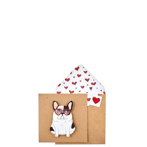 French Bulldog Heart Card, ${color}