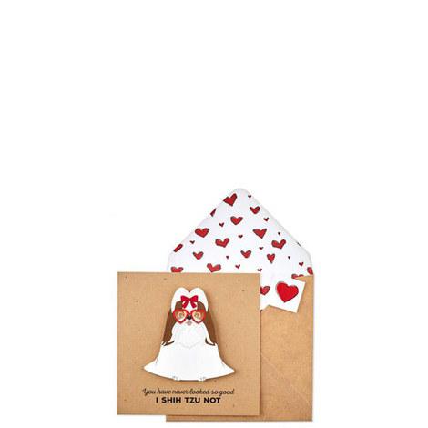 Shihtzu Heart Card, ${color}