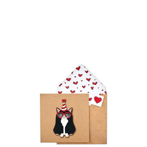 Cat Heart Card, ${color}