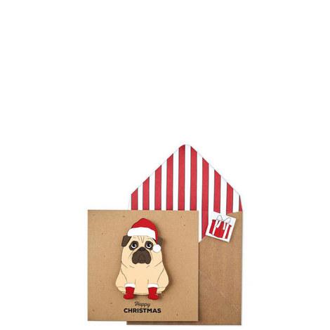 Christmas Pug Card, ${color}