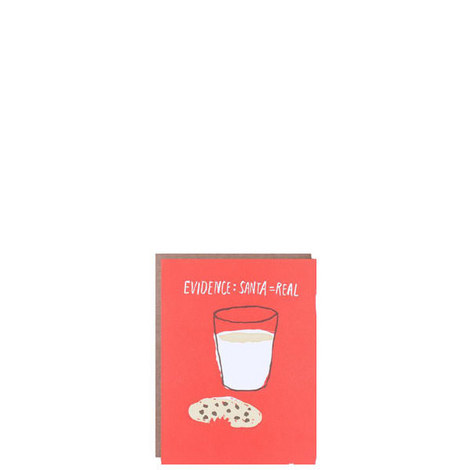 Set of Cookies and Milk Holiday Cards, ${color}