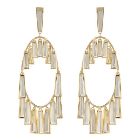 Mirror Chandelier Earrings, ${color}
