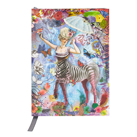 Zebra Girl Pop-Up Notebook, ${color}