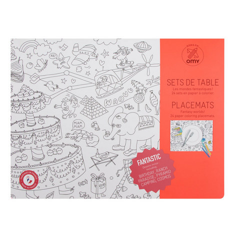 Set Of 24 Colouring Placemats, ${color}