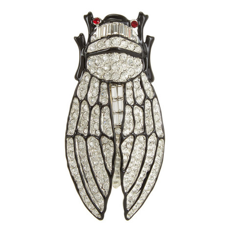 Crystal Cicada Brooch Large, ${color}