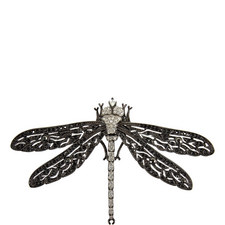 Two-Toned Crystal Dragonfly Brooch