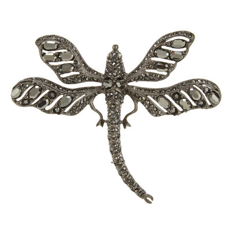 Diamond-Encrusted Dragonfly Brooch, ${color}