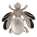 Crystal Bee Brooch, ${color}