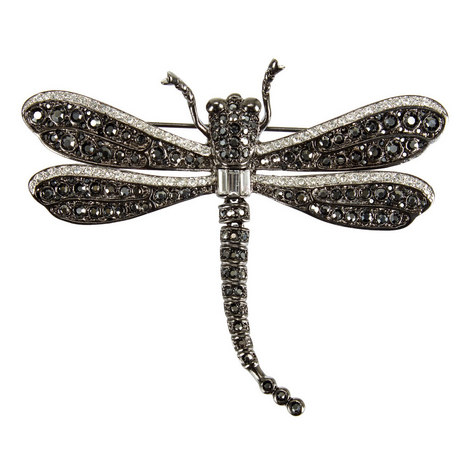 Crystal Dragonfly Brooch, ${color}