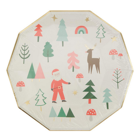 Forest Christmas Plates, ${color}