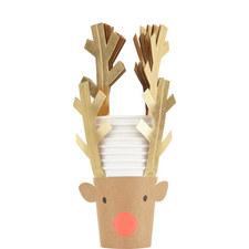 8-Pack Reindeer Cups