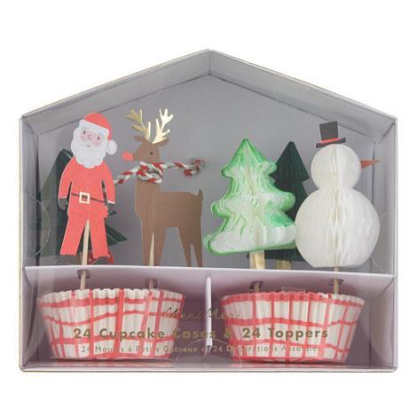 Santa Reindeer Cupcake Kit, ${color}