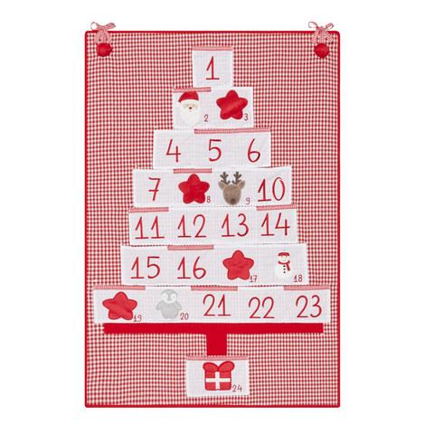 Gingham Hanging Advent Calendar, ${color}