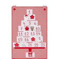 Gingham Hanging Advent Calendar