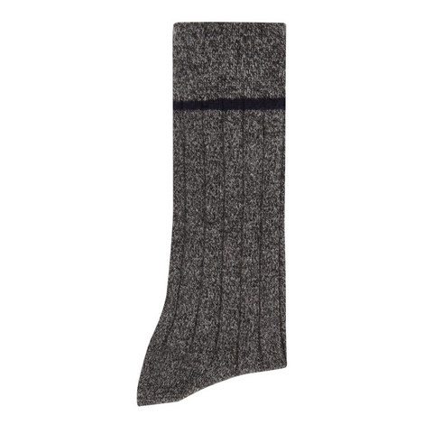 Cashmere Mouline Socks, ${color}