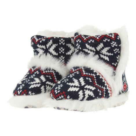 Fair Isle Slipper Boots Kids, ${color}