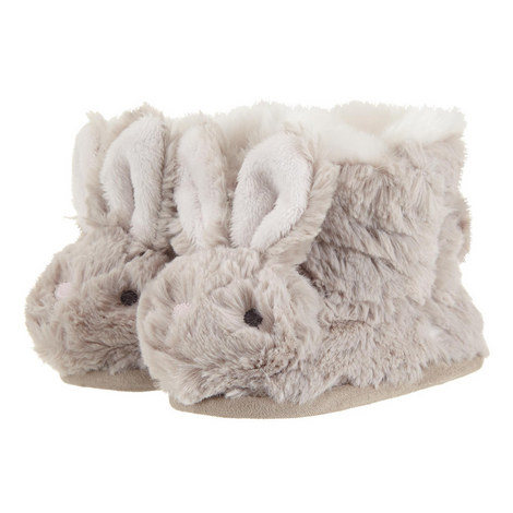 Fluffy Bunny Slipper Booties Baby, ${color}