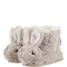 Fluffy Bunny Slipper Booties Baby