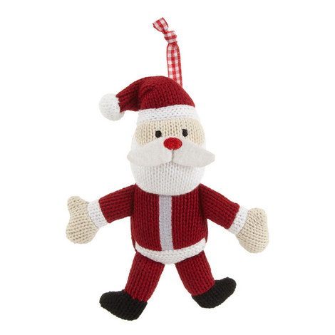 Knitted Father Christmas Hanging Tree Decoration, ${color}