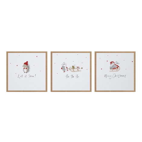 Woodland Creatures Christmas Cards, ${color}