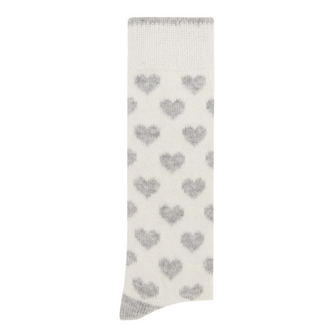 Knitted Heart Pattern Socks, ${color}