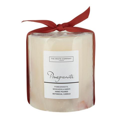 Pomegranate Pillar Candle, ${color}