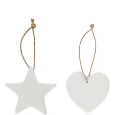 Hearts And Stars Hanging Decorations