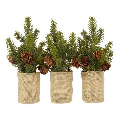 Pine Cone Mini Christmas Trees Set, ${color}
