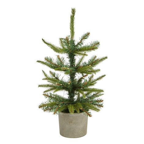 Potted Spruce Christmas Tree Mini, ${color}