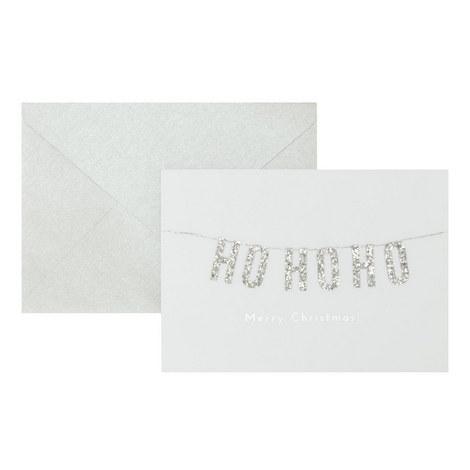 Ho Ho Ho Christmas Card, ${color}
