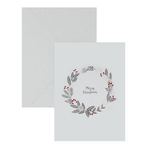 Wreath Merry Christmas Card, ${color}