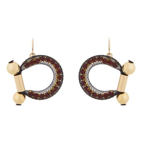 Dione Hook Drop Earrings, ${color}