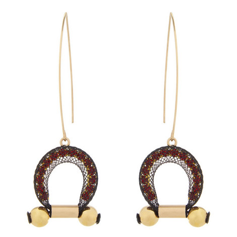Dion V-Hook Earrings, ${color}