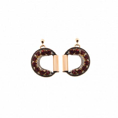 Ophelia Half Moon Stud Earrings, ${color}