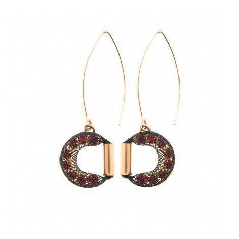 Half Moon V-Hook Drop Earrings, ${color}